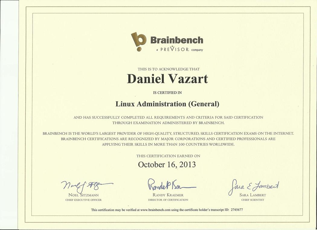 Brainbench: Linux Administration (General)